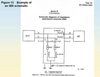 EMC Testing Part 2 – Conducted Emissions on oscilloscope schematic, shielded cable schematic, spectrum analyzer schematic, line noise cable schematic, electronic load schematic,